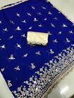 indian pakistani saree mirror work marble silk bollywood stayle wedding party 2