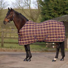 """Masta PP Check 340g Stable Rug - Auburn Check - Turnout Heavy Horse Rug 5'9"""""""