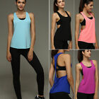 Women's Workout Tank Top T-shirt Sport Gym Clothes Fitness Y