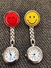 Smiley Face clip on watch nurse fun party favor smile  gift jewelry #16 image