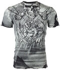 AFFLICTION Men T-Shirt PUPPET MASTER Skull BLACK Tattoo Motorcycle Biker UFC $50 image
