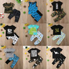 2pcs Toddler Kids Baby Boy Summer Outfit Clothes T-shirt Top+Shorts Pants Set