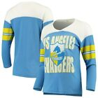 Los Angeles Chargers Junk Food Women's Throwback Football Long Sleeve T-Shirt - $44.99 USD on eBay