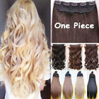"Extra Long 17-30"" One Piece Clip In Hair Extensions Brown Blonde New As Human T8"