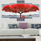 5Pcs Red Tree Modern Canvas Oil Painting Wall Art Home Decor Picture Print Decor