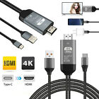 Type-C USB-C to 4K HDMI HDTV TV Cable Adapter For Samsung Galaxy S10 Note 9 Mac