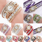 Fashion Women Ladies Analog Quartz Bling Diamond Bracelet Dress Wrist Watch Gift image