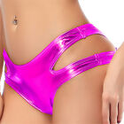 Sexy Lingerie Bottom Double Side Hollow Women's Briefs Solid Color Boxer Shorts
