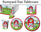 Farmyard Fun Party Tableware for Kids | Farm Yard Party Supplies Decorations