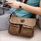 HOT Men Canvas Vintage Handbag Satchel Messenger Military Shoulder Leather Bag