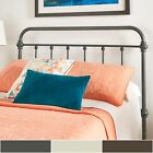 Giselle Antique Graceful Victorian Metal Headboard by iNS...