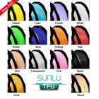 SUNLU TPU/Flexible 3D Printer Filament 1.75mm 1KG/0.5KG Spool Black Elastic TPU