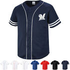 Milwaukee Brewers Button Jersey Baseball Team Raglan T-Shirts Sports Tee 0107 on Ebay