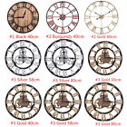 Vintage Wooden Wall Clock Shabby Rustic Kitchen Home Antique Watches Decor HG