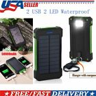 Unlimited 50000mAh Cell Phone Solar Power Bank Battery Charger 2 USB LED Travel