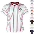 Philadelphia Phillies Striped Baseball Jersey T-Shirts Tee Uniform Dry Cool 0112 on Ebay