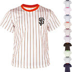 KH2008 San Francisco Giants Striped Baseball Jersey T-Shirt Tee Uniform Dry 0115 on Ebay