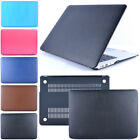 """Leather Rubberized Hard Case Cover For Macbook Air Pro Retina 11"""" 12"""" 13"""" 15"""""""