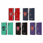 OFFICIAL ARSENAL FC 2018/19 CREST KIT LEATHER BOOK CASE FOR APPLE iPHONE PHONES