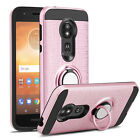 For Motorola Moto E5 Go/Play/Cruise Ring Stand Phone Case/Glass Screen Protector