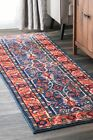 Bungalow Rose Pensford Blue/Orange Area Rug