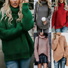 Warm Winter Turtleneck Sweater Women Pullover Thick Knitted Top Soft Elasticity