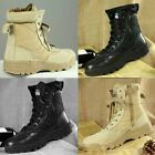 Men Outdoor Tactical Leather Boots Military Combat Army Desert SWAT Patrol Shoes