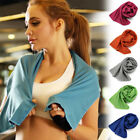 US Ice Cold Enduring Sport Running Jogging Gym Chilly Instant Cooling Towel  DSF image