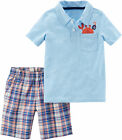 Carters Baby Boys Pirate Crab Polo Shorts Set