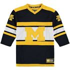 Michigan Wolverines Colosseum Youth Open Net II Hockey Sweat