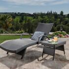 Toscana Outdoor 2-piece Wicker Armed Chaise Lounge Set by Christopher Knight