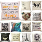 Patterns Cotton Linen Pillow Case Car Sofa Bed Waist Throw Cushion Cover Home  image