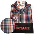 Warrior UK England Button Down Shirt IDOL Slim-Fit Skinhead Mod Retro