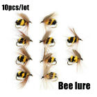 10pcs Artificial Bee Ant Bionic Bait Fly Trout Fishing Lures Insect Crank