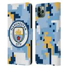MAN CITY FC DIGITAL CAMOUFLAGE LEATHER BOOK WALLET CASE FOR APPLE iPHONE PHONES