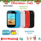 "Kocaso Unlocked 3.5"" Android 4.2 Smart Cell Phone Dual Sim Hd Camera Wifi Gps-uk"