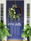Hello Welcome Door Vinyl Decal Sticker Front Door Decal Decor Welcome Home Art