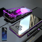 For Samsung Galaxy Note9/8 360°Magnet Adsorption Metal Case+Tempered Glass Cover