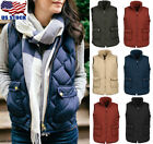 Plus Size Women Puffer Padded Vest Jacket Gilet Ladies Sleeveless coat Snowsuit