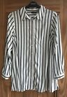 EVANS New Black White Striped Blouse Shirt Top Business Work Plus Size 16 - 28
