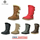 DREAM PAIRS 5 Colors Causal Flat Buckle Zip Mid-Calf Girl's