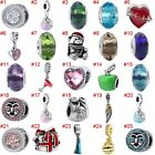 European Silver Hearts Charms Crystal Beads Cz Pendant Fit 925 Sterling Bracelet