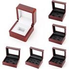 US Wooden Display Box for World Series Cup Championship Ring 1/3/4/5/holes