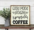 Good Mood Sponsored By Coffee Funny Wall Decals Kitchen Deco