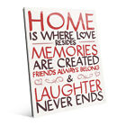 'Home is Where Love Resides' Wall Art on Acrylic