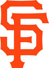 "San Francisco Giants SF logo 4"" Orange Black White Vinyl Decal Truck Car Window"