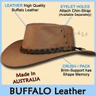 ●oZtrALa● Hat BUFFALO Leather Cowboy Black Mens Womens Kids AUSTRALIAN Outback ●