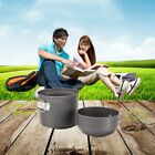 3-4 Person Cooking Pot Camping Cookware Outdoor Pots Frying Pan Kettle Set LQ