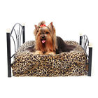 Pet Bed Medium Dog Bed Metal Frame Mattress Included Pet Dog Cat Cushion Beds