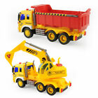1:16 Construction Vehicles Toys for Kids Inertia Toy Excavator Transporter Truck